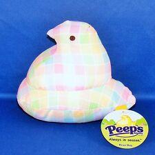 Peeps - Pastel Plaid Chick - Bean Bag Plush - Easter - NEW