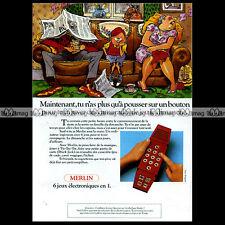 MERLIN Parker Brothers ELECTRONIC GAME 1981 : Pub Publicité Advert Ad #A1313