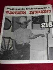 AUTHENTIC PATTERNS #216 - BOY'S SHORT SLEEVE WESTERN RODEO SHIRT PATTERN  8 FF