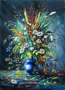 Flowers of Life Oil Painting on a High Quality Linen Rolled Canvas 60cm x 80cm