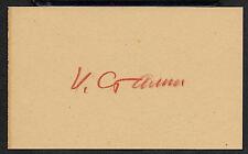 Joseph Stalin Autograph Reprint On Genuine Original Period 1940s 3X5 Card