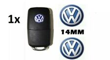 1 x Replacement Blue Remote Key Fob Badge Emblem Sticker Logo for VW 14mm