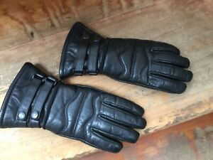 Women's black leather motorcycle gloves size 7.5