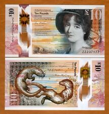 Royal Bank of Scotland, 10 pounds,  2017 P-New, POLYMER, UNC > REPLACEMENT