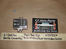 1967 Cadillac Deville Convertible RIGHT POWER WINDOW / VENT WINDOW SWITCH TESTED