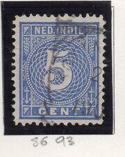Dutch Indies 1883-90 Wilhelmina Early Issue Fine Used 5c. 163379