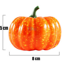 8cm Small Squash Fake Artificial Foam Mini Orange Pumpkin Halloween Decor