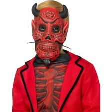 Childs Red Day Of The Dead Devil Satan Mask Halloween Accessory
