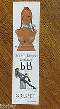 MARQUE PAGES BRIGITTE BARDOT dessin de Aslan Pub pour son livre initiales B. B.