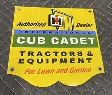 Cub Cadet IH Tractor & Equipment Authorized Dealer Porcelain Metal Sign