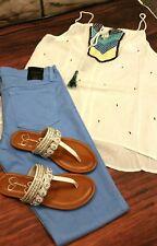 Flying Monkey Jeans Pool Party Light Blue Skinny Stretch nwot sz 30