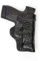 HD GLOCK 42,43,19 Black GATOR Leather Gun Belt Conceal Pistol Holster CLICK NOW!