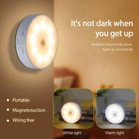 9 LED Motion Sensor Lights PIR Wireless Night Light Battery Cabinet Stair Lamp