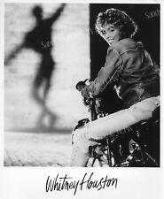 Whitney Houston Fantastic Original Publicity Photo *On Motorcycle*