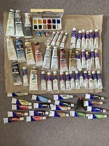 Selection Of Winsor & Newton ..etc. Oil Paints, Acrylic Paints & Water Colours