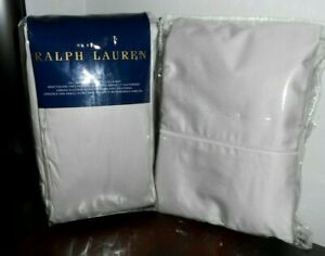 New RALPH LAUREN 624tc VINTAGE SILVER Gray KING FLAT CAL KING Fitted SHEET SET