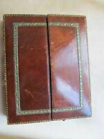 Antique Victorian Travel Campaign Photo Frame Leather Case London Stereoscopics