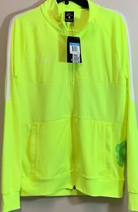 """NewNike Men's Academy Dri-fit Soccer Jacket Size M Neon Yellow """"Defects"""" S0235"""