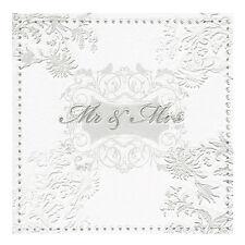 Servietten Mr. und Mrs.16 Stk silber Papierservietten Lunchservietten Hochzeit