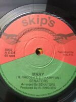 "Senators-Mary 7"" Vinyl Single UK REGGAE"