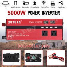 2000W-3000W Portable Car LED Power Inverter DC 12V to AC 110V Converter USB Port