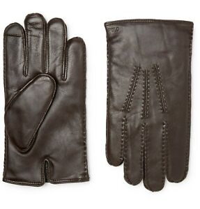 Ralph Lauren Thinsulate Classic Cashmere Lined Leather Gloves Italy, Nwt!