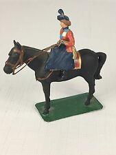 Vintage QUEEN ELIZABETH Miniature Metal Toy Soldier On Horseback