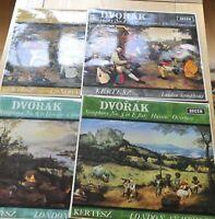 4 by Kertesz,  Dvorak Symphony`s minty bunch HEAR  Decca SXL 6044 6291 6253 6290