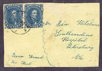 SC# CSA 4 PAIR ON COVER FRONT, SOUTH CAROLINA PMK, ADDR TO PETERSBURG, VA 1862