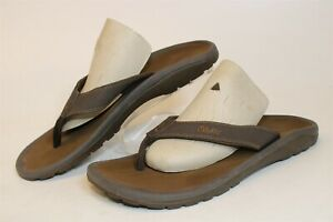 OluKai Mens 10.5 Brown Casual Flip Flops Sandals Shoes