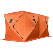 NEW Orange Waterproof Weatherproof 8-Person Camping Fishing Ice Shelter Tent