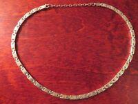 Wunderschöne 925 Silber Collier Kette Massiv Schwer Schlicht Einfach Sterling