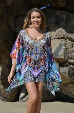 Silk Kaftan Top with Embellishment