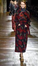 Dries Van Noten Rinieri Catwalk Runway Navy Red Wool Blend Coat, Size S- BNWT
