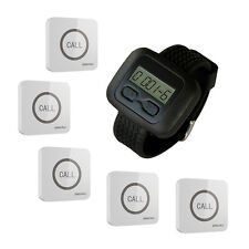 SINGCALL Wireless Nursing System for Hospital Hotel 1 Watch 5 Touchable Bells