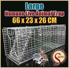66cm Large Humane Possum Trap Rat Cat Rabbit Hare Bird Bait Rat Live Animal BN
