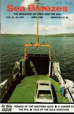 SEA BREEZES MAGAZINE (April 1989) THE 'GUADIANA'- ROYAL FLEET AUXILIARY - MALTA