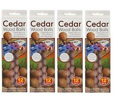 48 x red cedar wood balls naturel moth repeller dissuasif armoire tiroirs