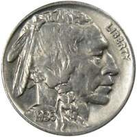 1936 5c Buffalo Nickel AU About Uncirculated
