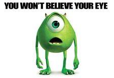 Monsters Inc Mike Wazowski POSTER