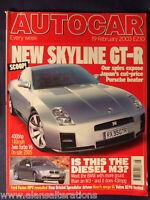 AUTOCAR Magazine 19th February 2003 Skyline GT-R