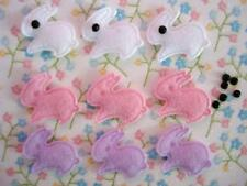 60 Little Felt Rabbit Easter Bunny Applique/trim/eye/pink/purple/white/baby L1