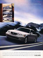 2002 Acura RL 225hp - road -  Classic Advertisement Ad A56-B