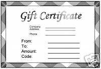LYONS AUTO DETAILING GIFT CERTIFICATE