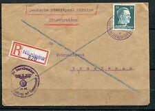UKRAINE WORLD WAR II GERMAN OCCUPATION REGISTERED COVER,NIKOLAEV
