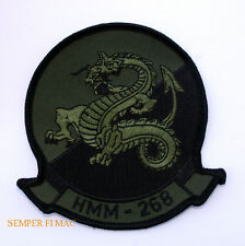HMM-268 RED DRAGONS SUBDUED PATCH US MARINES PIN UP HELICOPTER MAW MAG GIFT HELO