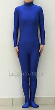NEW Lycra Spandex Zentai Party Costume Bodysuit Catsuit Unitard No Hood & Hands