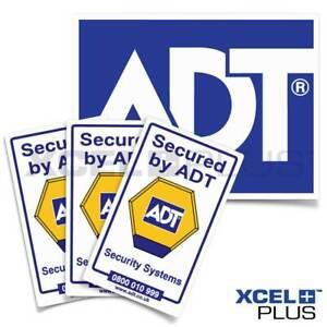 ADT 4PCS Pack Window & Outdoor Siren Alarm Stickers Package