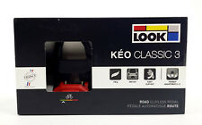 2018 LOOK KEO CLASSIC 3 Road Pedals with Gray Grip Cleats, BLACK/RED