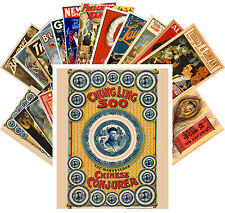 Postcards Pack [24 cards] Chung Lung Magician Show Vintage Posters CC1087